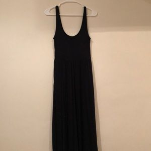 Aritzia maxi black dress
